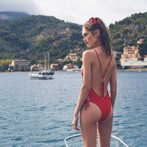 Sexy For Love & Lemons Mallorca One-Piece Swimsuit
